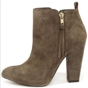 Steve Madden Jaynnce booties- taupe